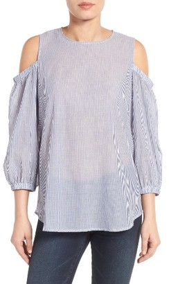 Women's Bobeau Cold Shoulder Blouse $59 thestylecure.com