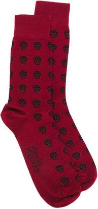 Alexander McQueen skull print socks $70 thestylecure.com