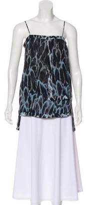 Halston Printed Sleeveless Top w/ Tags