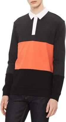 Calvin Klein Men's Liquid Touch Contrast Collar Polo Shirt
