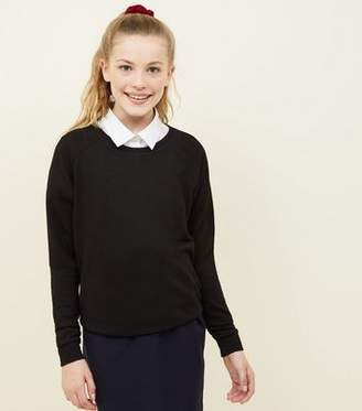 New Look Girls Black School Jumper