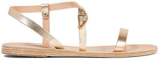 Ancient Greek Sandals Niove Metallic Leather Sandals - Gold