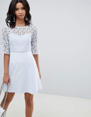 French Connection Corded Lace Mini Dress