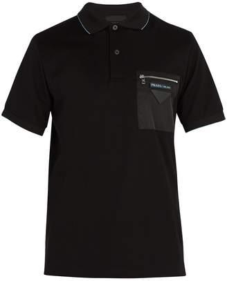 Prada Contrast-pocket cotton-piqué polo shirt