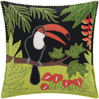 Jan Constantine Tropical Toucan Cushion