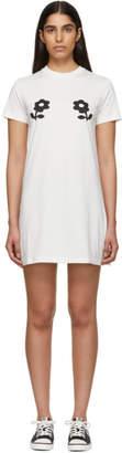 ALEXACHUNG Off-White Double Daisy T-Shirt Dress