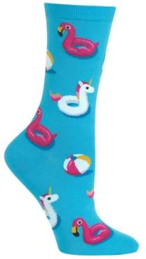 Hot Sox Women's Pool Float Fashion Crew Socks