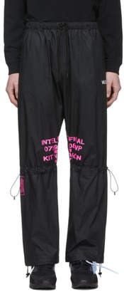 Marcelo Burlon County of Milan Black and Multicolor Lettering Lounge Pants