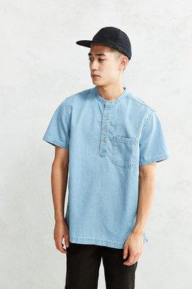 CPO Denim Short Sleeve Popover Shirt $54 thestylecure.com