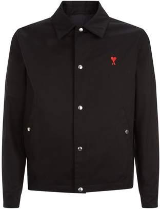 Ami Paris Embroidered Heart Blouson Jacket