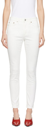 Acne Studios White Bla Konst Climb Jeans