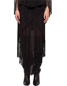 KITX Humane Fringe Crossover Skirt