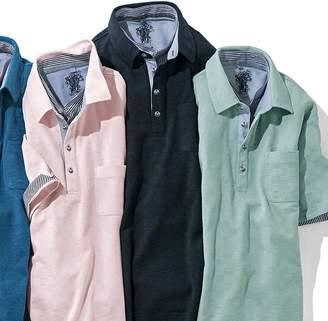 ベルーナ (ベルーナ) - ベルーナ お洒落な重ね衿ポロシャツ ミント 3L メンズ