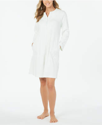 Miss Elaine Waffle Knit Embroidered Robe
