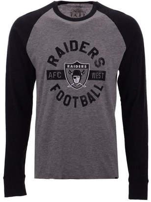'47 Men's Oakland Raiders Retro Encircled Long Sleeve Club Raglan T-Shirt