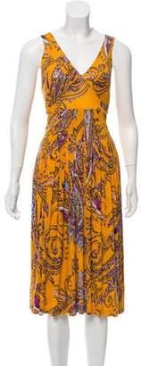 Etro Sleeveless Printed Midi Dress