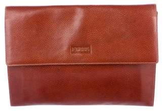 Gianfranco Ferre Leather Flap Portfolio