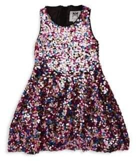 Milly Minis Little Girl's& Girl's Sequin A-Line Dress
