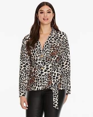 467938bfb7 AX Paris Curve Leopard Printed Pyjama Jacket