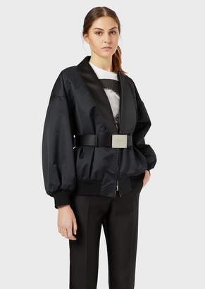 Emporio Armani Lapelled Radzimir Blouson With Leather Belt