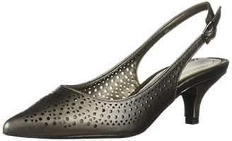 5fa1d485c83 Easy Street Shoes Women s Enchant Slingback Dress Pump on Kitten Heel Shoe
