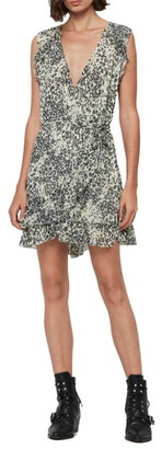 AllSaints Priya Patch Leopard Print Sleeveless Dress