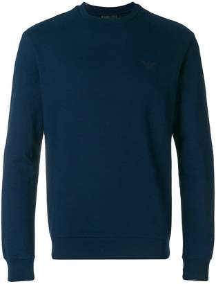 Emporio Armani long-sleeve fitted sweater