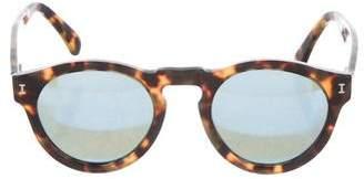 Illesteva Tortoiseshell Round Sunglasses