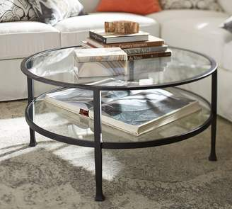 Merveilleux ... Pottery Barn Tanner Round Coffee Table, Bronze