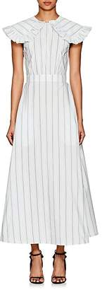 Calvin Klein Women's Striped Silk-Cotton Poplin Prairie Dress