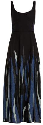 Elie Saab Scoop-neck jacquard-knit dress