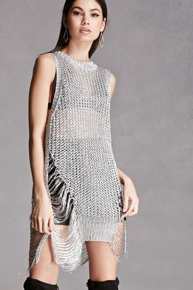 FOREVER 21+ Metallic Open-Knit Top $45 thestylecure.com