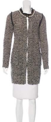 Lanvin Embellished Bouclé Coat