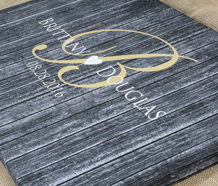 Etsy Monogram Guest Book Alternative - Rustic Wedding Sign - Guestbook - High Quality Wood Graphics Print