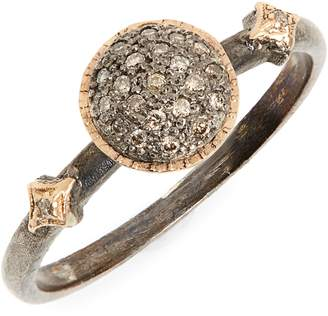 Armenta New World Pave Diamond Circle Ring