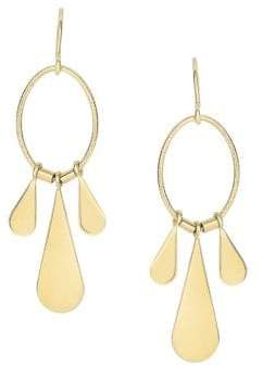 Saks Fifth Avenue 14K Yellow Gold Teardrop Chandelier Earrings