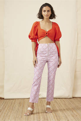 Finders Keepers NOSTALGIA PANT lilac check