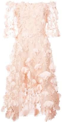 Marchesa 3D appliqué flower dress