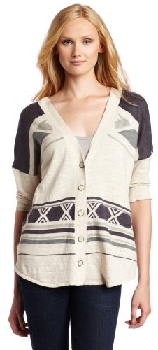 Twelfth St. By Cynthia Vincent Womens Aztec Front To Back Sweater