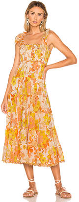 Zimmermann Primrose Crinkle Tie Dress