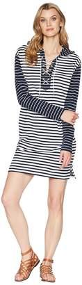 Chaps Striped French Terry Dress Women's Dress