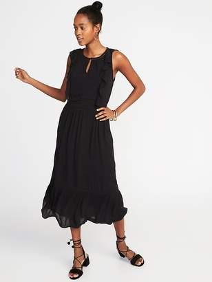 Old Navy Waist-Defined Sleeveless Midi Dress for Women