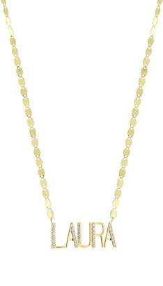 Lana Gold Personalized Five-Letter Pendant Necklace w/ Diamonds
