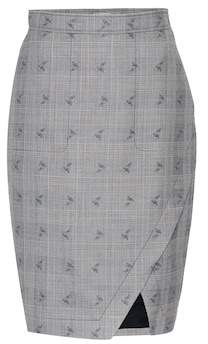 Altuzarra Wilcox plaid wool-blend skirt