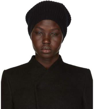 Rick Owens Black Wool Medium Beanie