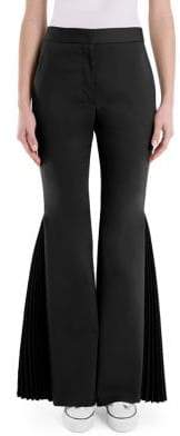 Sara Battaglia Pleated Flare Pants