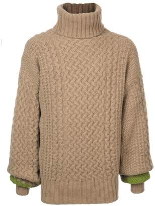 Haider Ackermann chunky high neck sweater