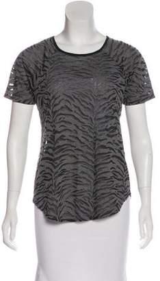 Rebecca Taylor Patterned Short Sleeve Top