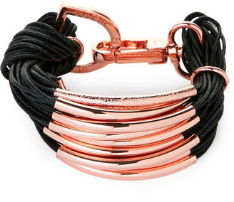 Saachi Black & Rose Gold-Tone C String Bracelet