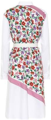 Salvatore Ferragamo Cotton and silk printed dress
